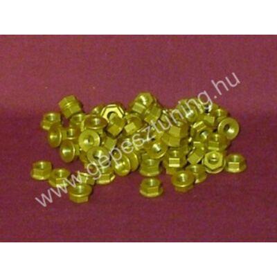 Arany színű Eloxált alumínium anya - M6