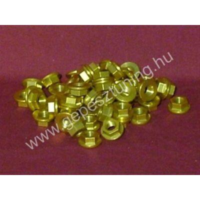 Arany színű Eloxált alumínium anya - M8x1,25