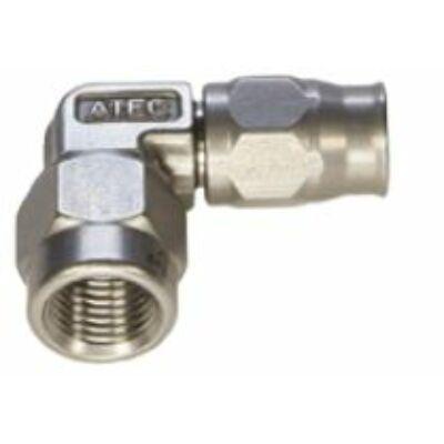 Atec többször használatos forgócsatlakozós tefloncsőre 90° Dash 3 rozsdamentes acél (642.189)