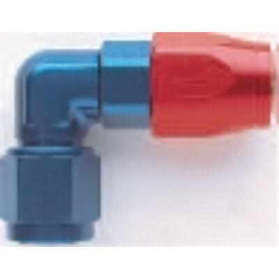 Alu. Teflonos 90° csatlakozó adapter menet: 1-1/16-12 UNF cső: Dash 12(E 809012)