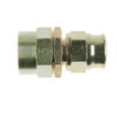 Egyenes acél csatlakozó tefloncsőre forgócsatlakozó nélkül M 10x1 mm D-03 (2012-4)