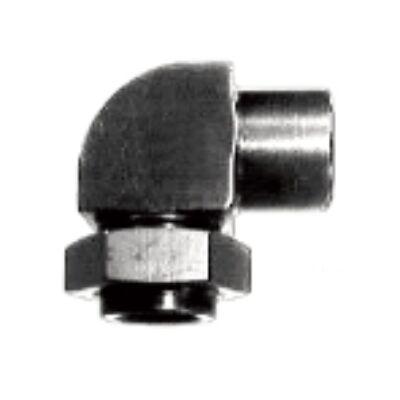 Atec 90° Rozsdamentes Acél válaszfali átvezető 2x M10 x 1 mm (650.861)