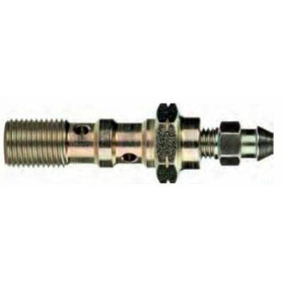 Dupla üreges hosszú légtelenítős acél csavar M10x1 mm (2390-10)