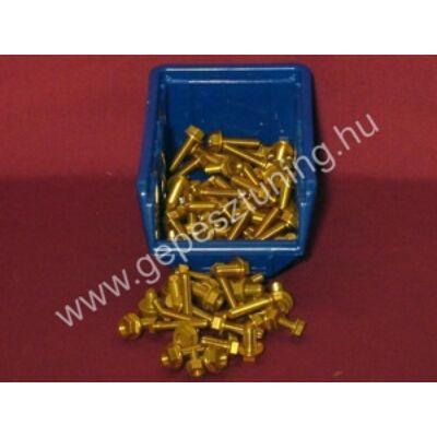 Arany színű Eloxalt alumínium csavarok - rövid M8x1,25 17mm