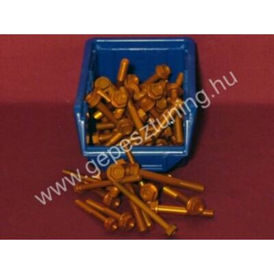 Arany színű Eloxált alumínium csavarok - hosszú M6x1 60mm 25 menetes