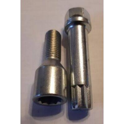 Kerékőr M12x1.5 60° 25mm belső kulcsnyílású (csillag)